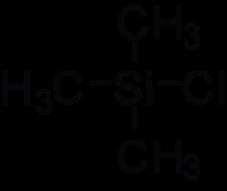 Trimethylsilyl chloride - Image: Tmscl stick 2