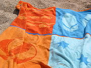 A beach towel at Sant Pol de Mar