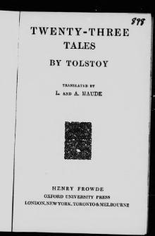 Tolstoy - Twenty-three tales.djvu