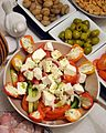 Tomato feta salad 2015 Birthday party table decoration.JPG