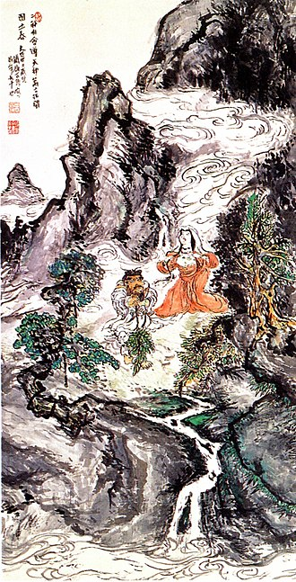 Tomioka Tessai - Image: Tomioka Tessai Two Divinities Dancing