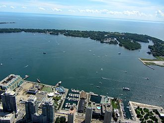 Toronto Islands - The Toronto Islands from the CN Tower