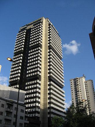 BBVA Provincial - Banco Provincial Building Headquarters in Caracas.