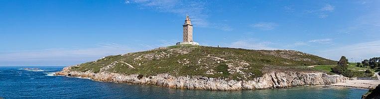 Tower of Hercules, A Coruña, Galicia, Spain.