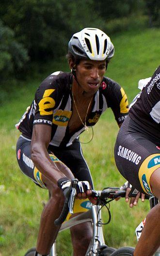Daniel Teklehaimanot - Teklehaimanot at the 2015 Tour de France