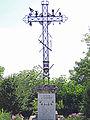 Tourtrès - Croix de mission et monument aux morts.JPG
