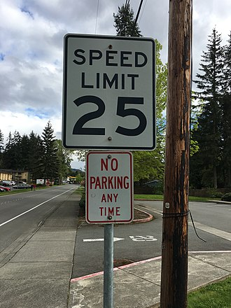 Traffic-sign recognition - A speed limit sign in the United States