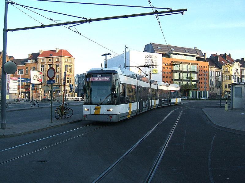 Tram in Ghent