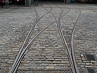 Tram Tracks and Cobble Stones - geograph.org.uk - 1507078.jpg