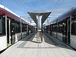 Trams at the terminus (geograph 4030558).jpg