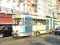 Trams in Ropsy Chaudron street, Anderlecht (495239687).jpg