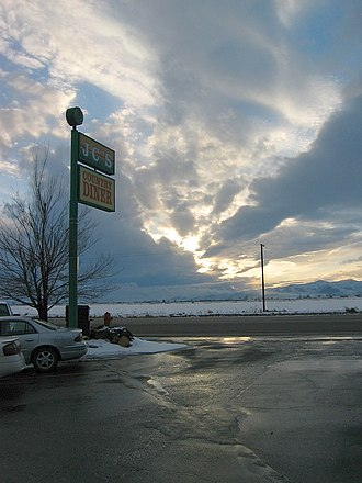 Tremonton, Utah - Diner in the entrance of Tremonton at the junction of Interstate 15 and Interstate 84 in Utah
