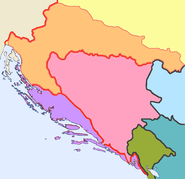 Kingdom of Dalmatia within and the Kingdom of Croatia and Slavonia