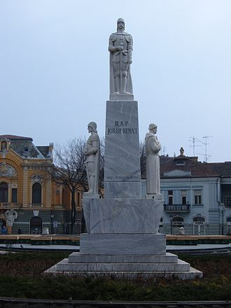 Subotica - Emperor Jovan Nenad monument in the downtown