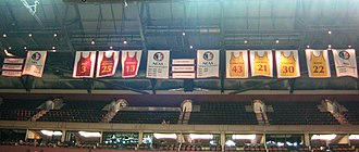 Florida State Seminoles men's basketball - Banners hanging at the Donald L. Tucker Center