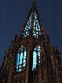 Turmfinale, Feier zum Abschluss der zwölfjährigen Renovierung des Münsterturms mit farbiger Beleuchtung 16.jpg