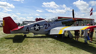 Tuskegee Airmen - Tuskegee Airman P-51 Mustang taken at Airventure. This particular P-51C is part of the Red Tail Project