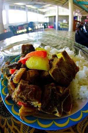 Cuisine of Tuvalu - A Tuvaluan meal