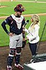 Tyler Flowers and Kelsey Wingert after a game vs the Rockies e at Coors Field - 1.jpg