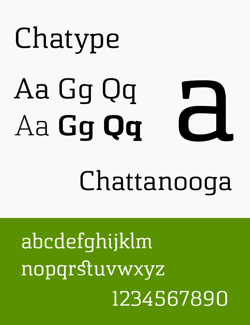 Typeface sample Chatype