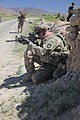U.S. Army Sgt. Corey Garver, with Baker Company, 1st Battalion, 506th Infantry Regiment, 4th Brigade Combat Team, 101st Airborne Division, provides security as Soldiers with Baker Company and Afghan National 130529-A-CW939-087.jpg