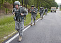 U.S. Soldiers, of 513th Military Intelligence Brigade participate in a force march, during the Warrior Stakes Exercise, at Fort Gordon, Ga., May 18, 2010 100518-A-NF756-001.jpg