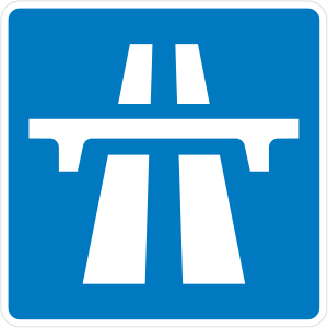 Symbol used for motorways in the United Kingdom.