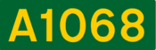 A1068 road shield
