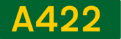 A422 road shield