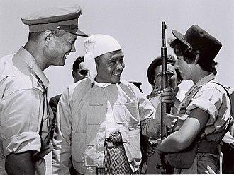 U Nu - U Nu with Moshe Dayan during his visit to Israel in 1955