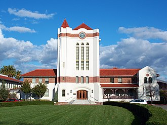 National Register of Historic Places listings in Santa Clara County, California - Image: USA Santa Clara Agnews Developmental Center Clocktower 1