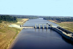 Ouachita River - Columbia Lock and Dam on the Ouachita River