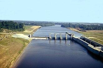 Ouachita River - Columbia Lock and Dam on the Ouachita River