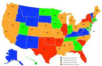Map of USA states as regards their status for ...