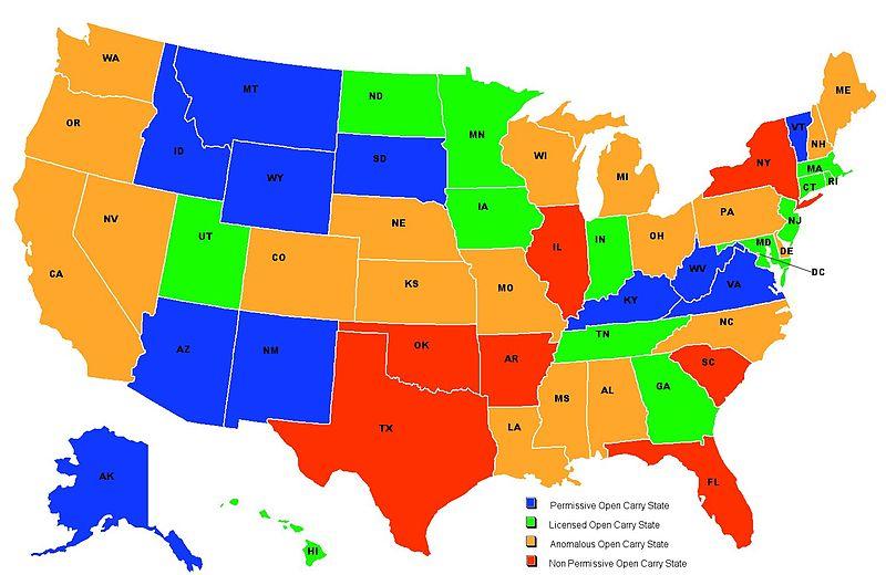 United States Map Guns