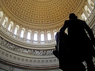 United States Capitol rotunda - Rotunda viewed from behind the statue of George Washington