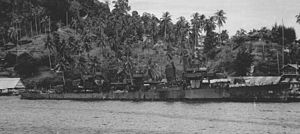 USS Chevalier (DD-451) - Image: USS Chevalier (DD 451) at Tulagi in July 1943