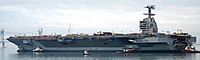 USS Gerald R. Ford (CVN-78) on the James River in 2013.JPG