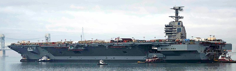 File:USS Gerald R. Ford (CVN-78) on the James River in 2013.JPG