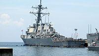 USS Hamilton - Rear View