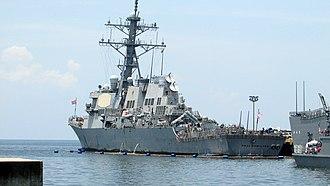USS Paul Hamilton (DDG-60) - Image: USS Hamilton Rear View