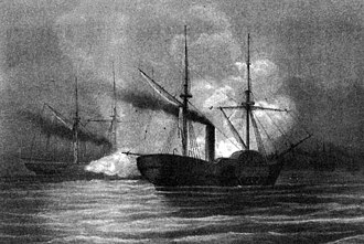 Action off Galveston Light - In action with CSS Alabama, off Galveston, Texas, on 11 January 1863