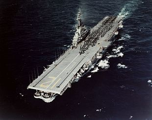 USS Hornet (CVA-12) en route to Guantanamo Bay on 10 January 1954 (80-G-K-17108).jpg