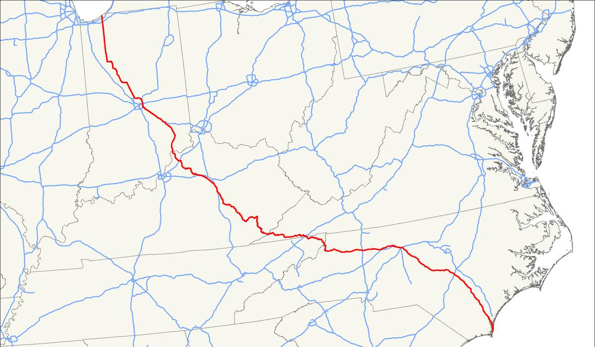 Hwy 421 Nc Map.U S Route 421 Wikipedia