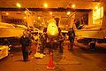 US Navy 030227-N-4154B-501 An F-A-18C receives extensive maintenance and upkeep in the hangar bay aboard USS Theodore Roosevelt.jpg