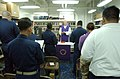 US Navy 030407-N-5555F-038 Cdr. Jerome Dillon, U.S. Navy chaplain from South Sioux City, Neb., conducts Roman Catholic Mass aboard the fast combat support ship USS Sacramento (AOE 1.jpg
