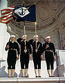 US Navy 030811-N-0000X-001 A Navy color guard on parade at the Arlington National Cemetery Amphitheater, Va., during World War II.jpg