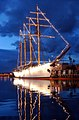 US Navy 040517-N-3019M-004 The Chilean Tall Ship Esmeralda sits in Pearl Harbor at sunset, while on a four-day port visit before heading to Japan.jpg