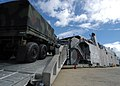 US Navy 050811-N-3019M-003 A U.S. Army Light Medium Tactical Vehicle is loaded onto the U.S. Army ship TSV-1X Spearhead during a capabilities demonstration for local military and civilian leaders on Ford Island at Pearl Harbor.jpg