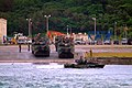 US Navy 060322-N-4772B-027 Amphibious Assault Vehicles (AAV) assigned to the 31st Marine Expeditionary Unit (MEU) depart the beach in Okinawa bound for the amphibious dock landing ship USS Harpers Ferry (LSD 49).jpg
